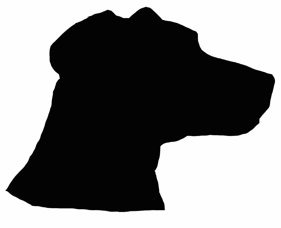 dog head silhouette clip art #19
