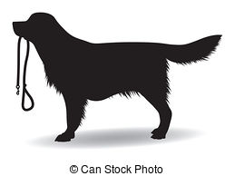 dog holding leash clipart - Clipground