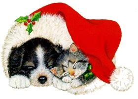 Free Christmas Animal Clipart.