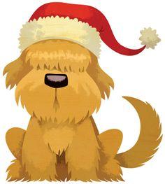Dog holiday clipart.