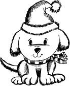 Holiday dog clipart.