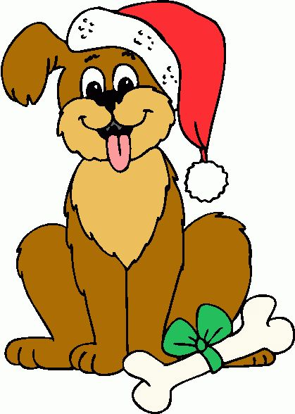 clipart of christmas and dogs #15