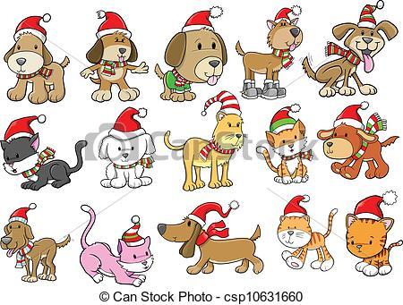 Christmas dog Clipart Vector and Illustration. 1,095 Christmas dog.