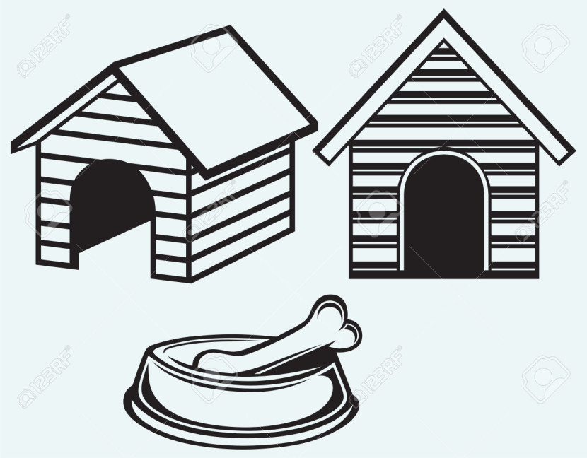 Dog House Clipart.