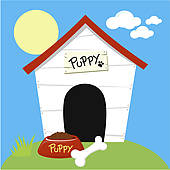 596 Dog House free clipart.