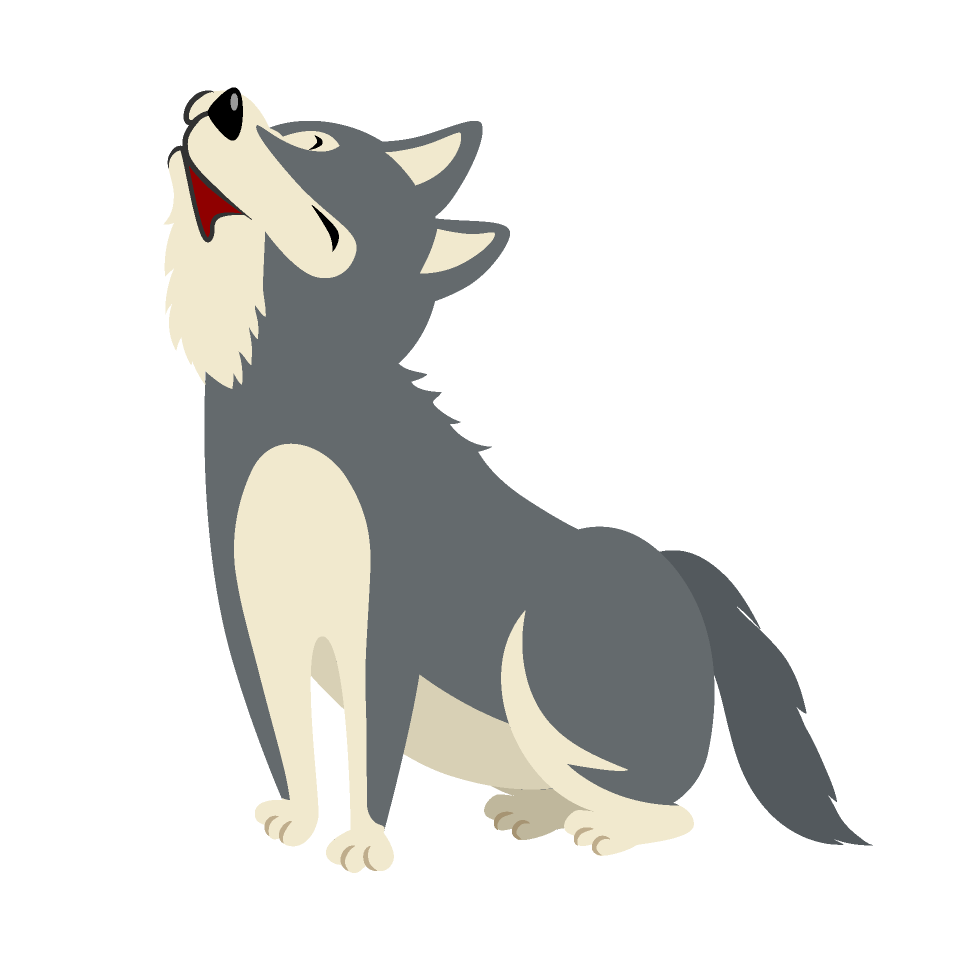 Free Howling Wolf Clipart Image|Illustoon.