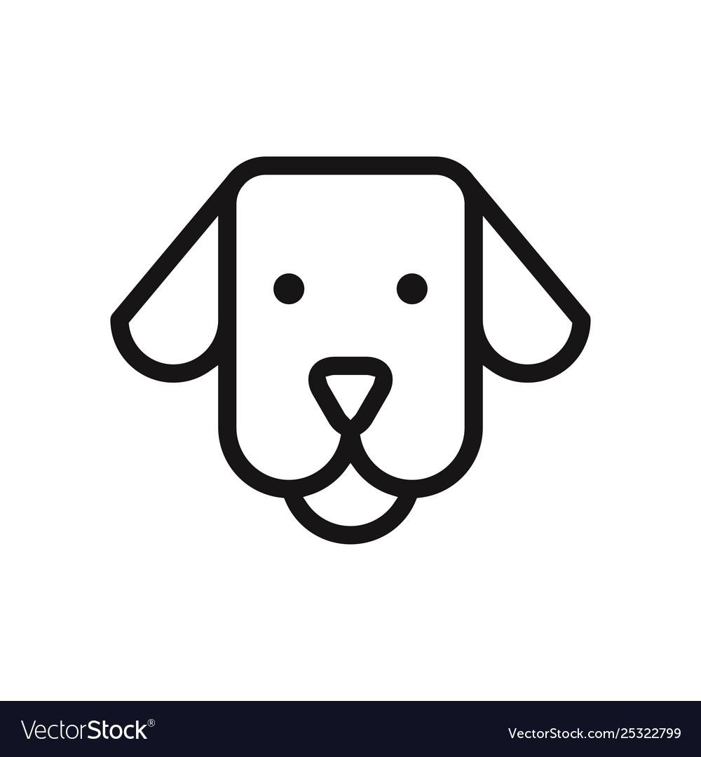 Dog face icon.