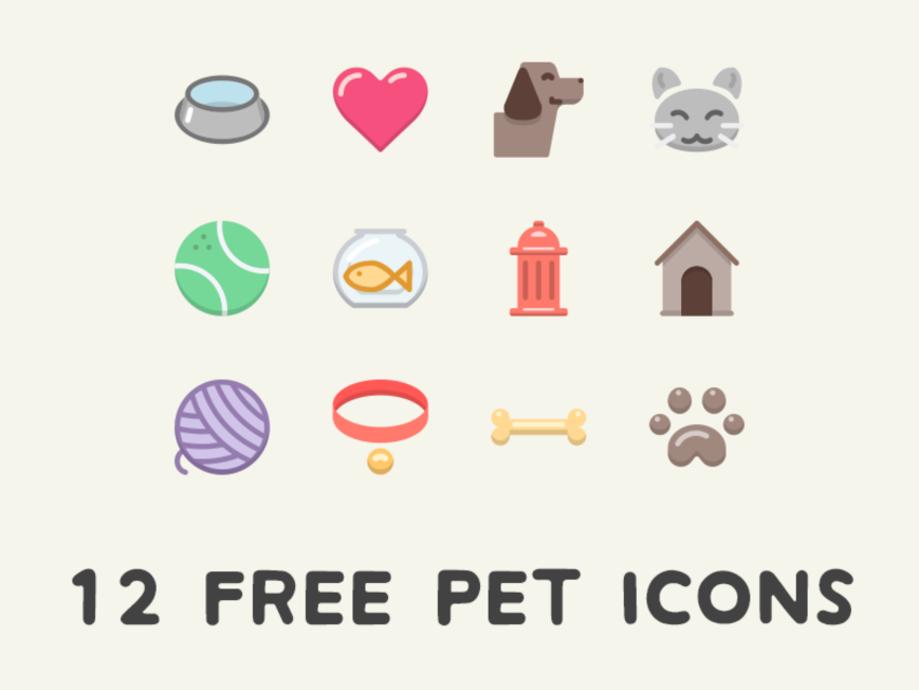 12 Free Pet Icons.