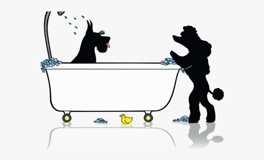 Dog Clipart Tub.