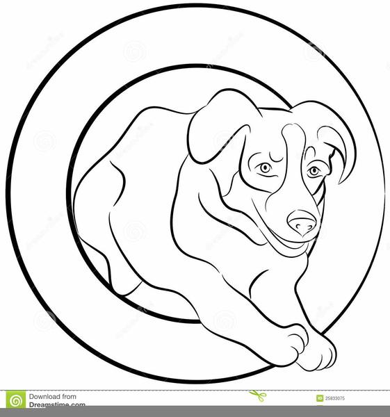 Dog Jumping Through Hoop Clipart.
