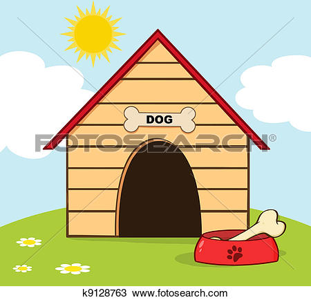 Stock Photo of 3d Dog's kennel.