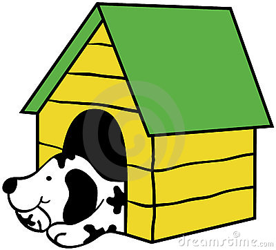 Dog kennel clipart.