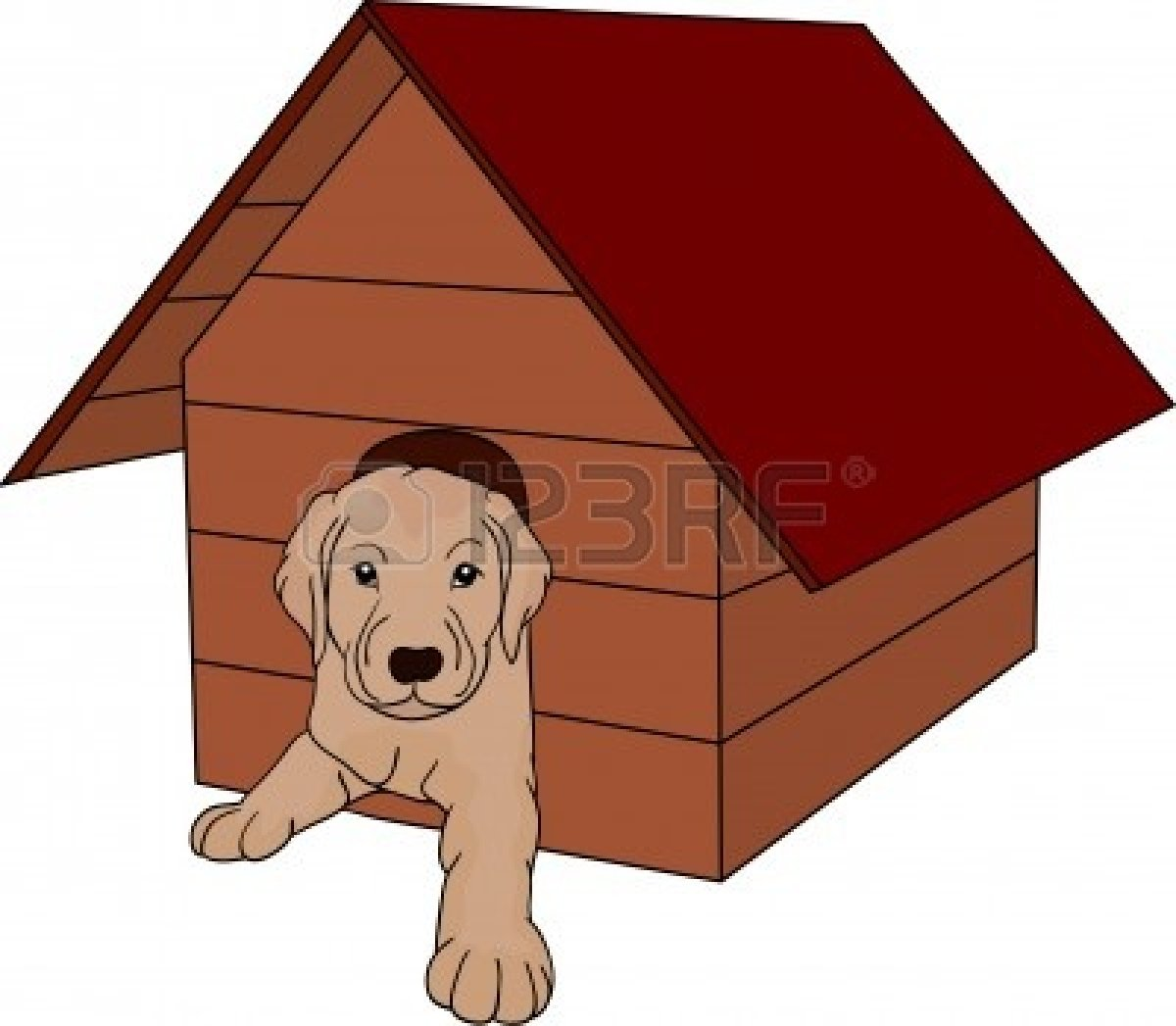 Dog kennel clipart - Clipground