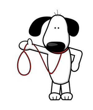 Dog leash clip art.