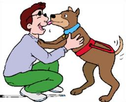 Free Licking Dogs Clipart.