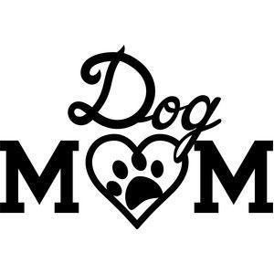 Silhouette Design Store: dog mom.