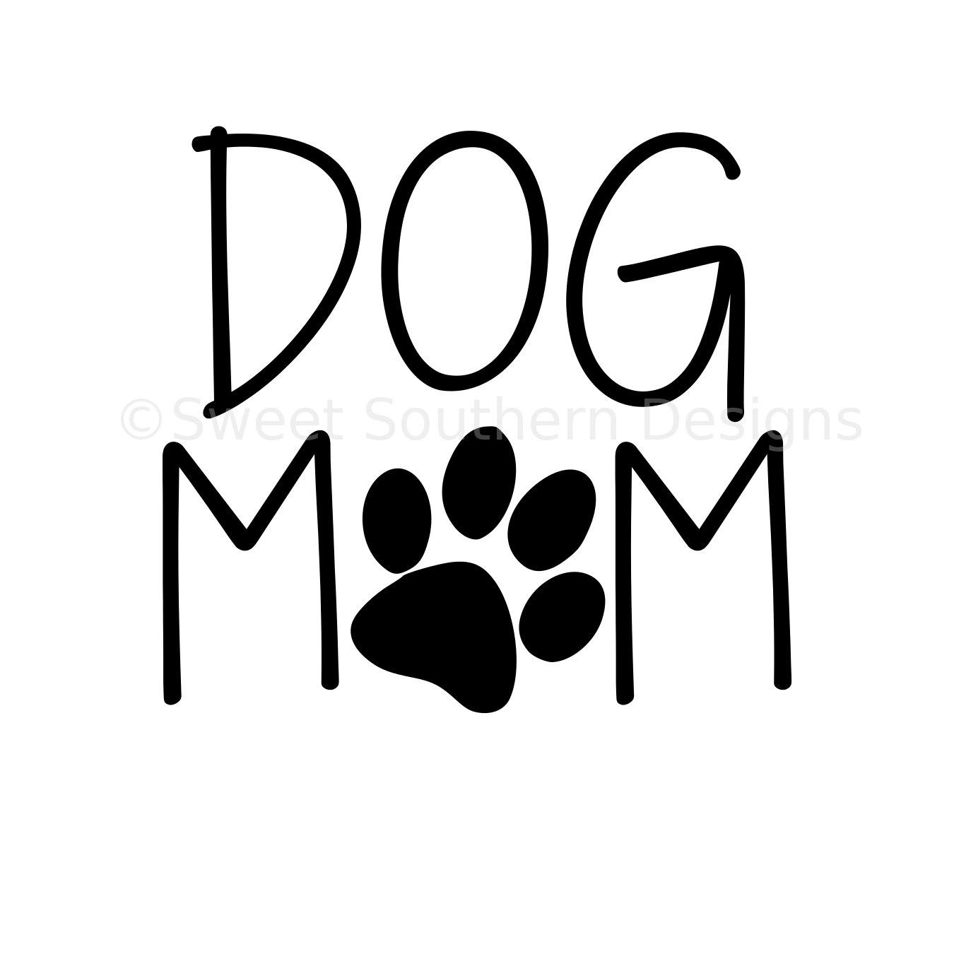 Dog Mom Silhouette.