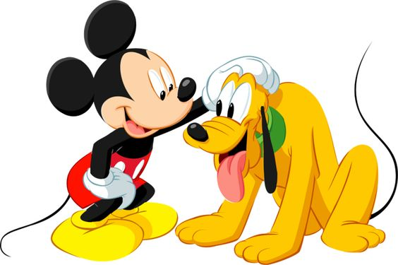 Mickey mouse and dog clipart.