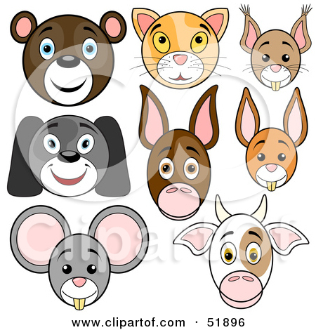 Clipart of a Cartoon Mouse.