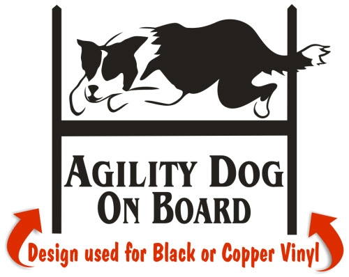 Border Collie Agility Dog Decals & Stickers.