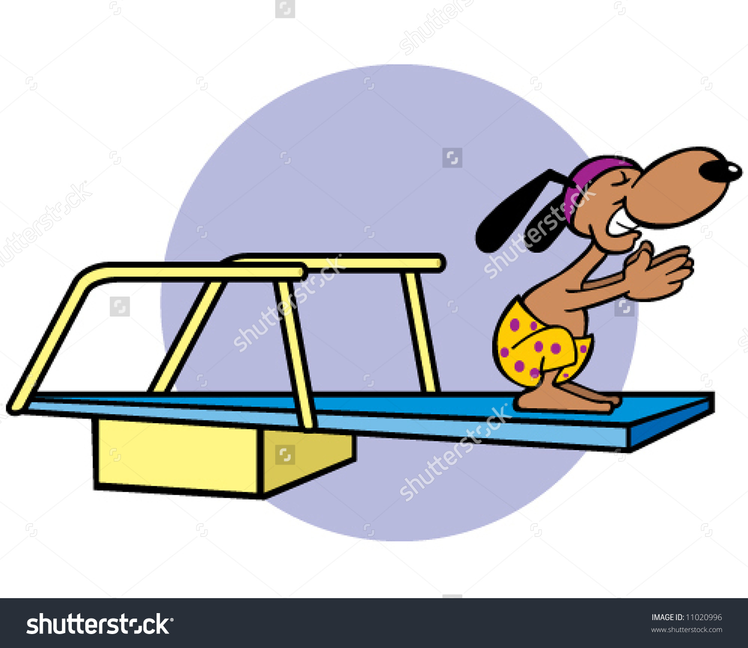 Vector Dog On Diving Board Concept Stock Vector 11020996.