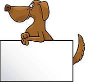 Clip Art of cat and dog with card cartoon design k13353299.