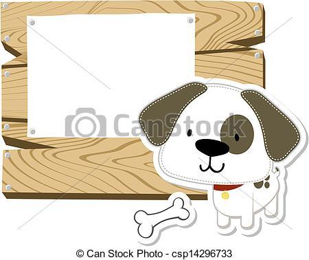 Vectors of baby dog board.