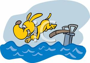 Diving Dog Clipart.