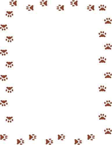 Puppy Border Cliparts.