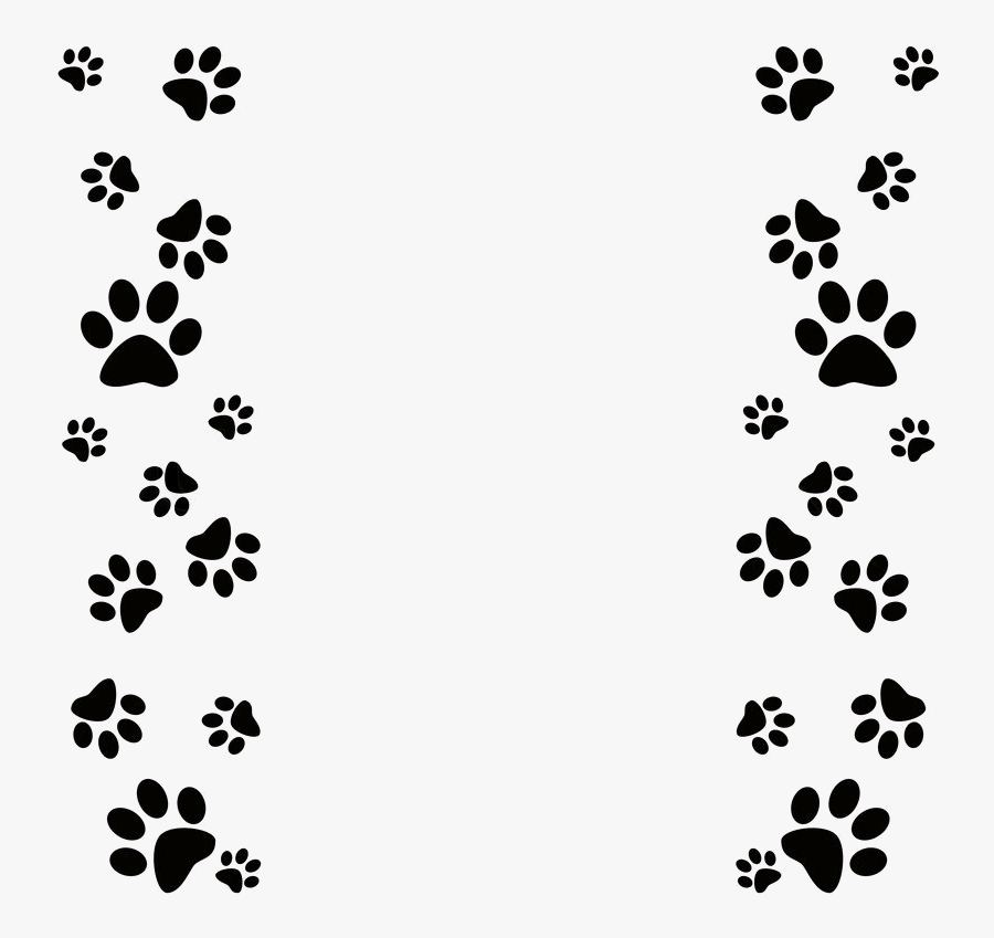 Paw Print Clip Art Dog Powerpoint Template Transparent.