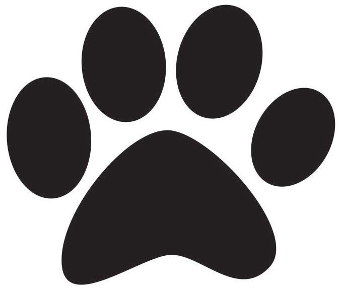 Dog paw jpg clipart.