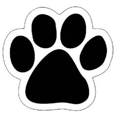 Dog Paw Print Outline Clipart.