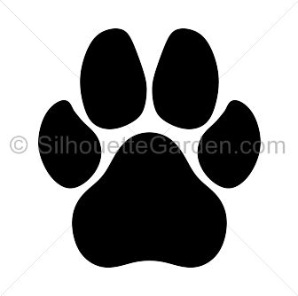 Dog paw print silhouette clip art. Download free versions of the.