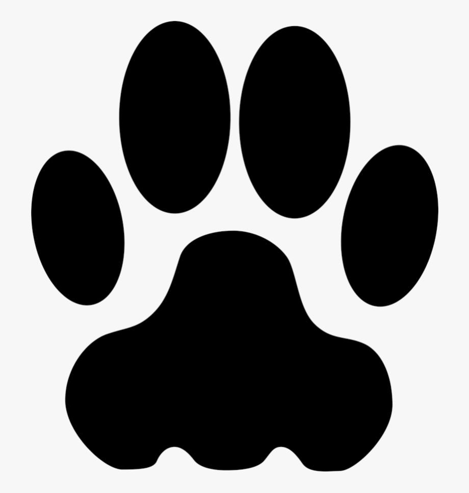 Cougar Paw Print Clip Art.