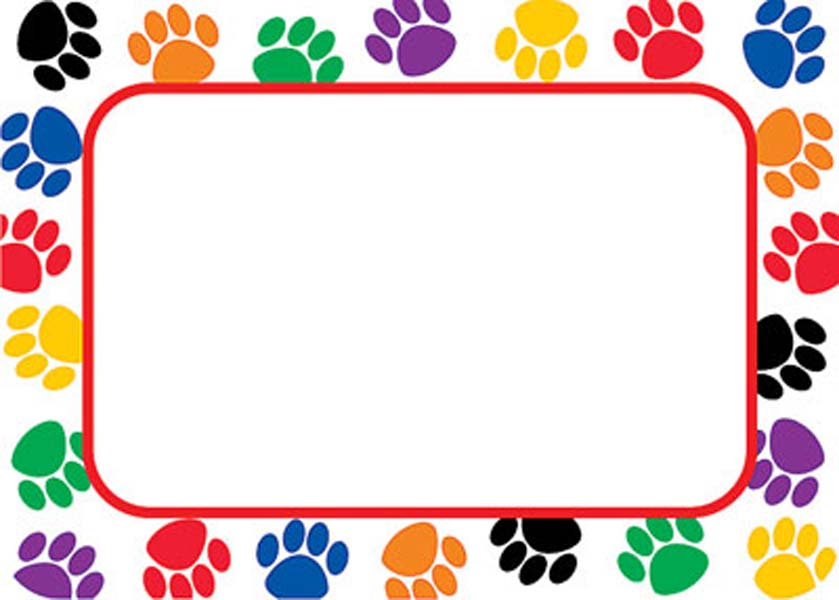Free download Dog Paw Print Border Clip Art [839x600] for.