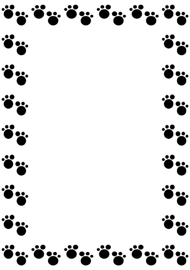 Dog Paw Border Clip Art.