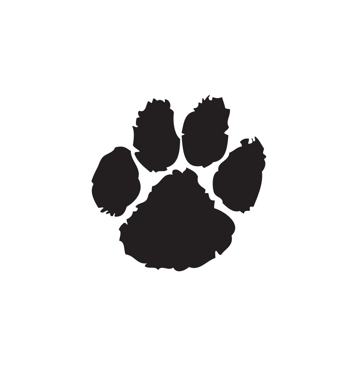 dog paw print clipart and illustration 533 dog paw print.