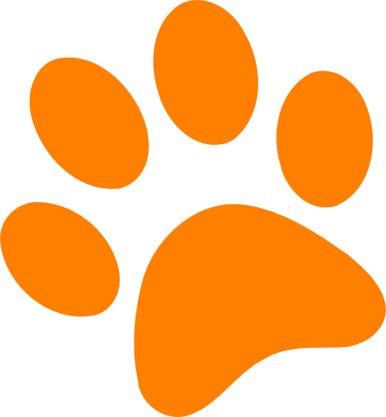 Clipart of dog paws.