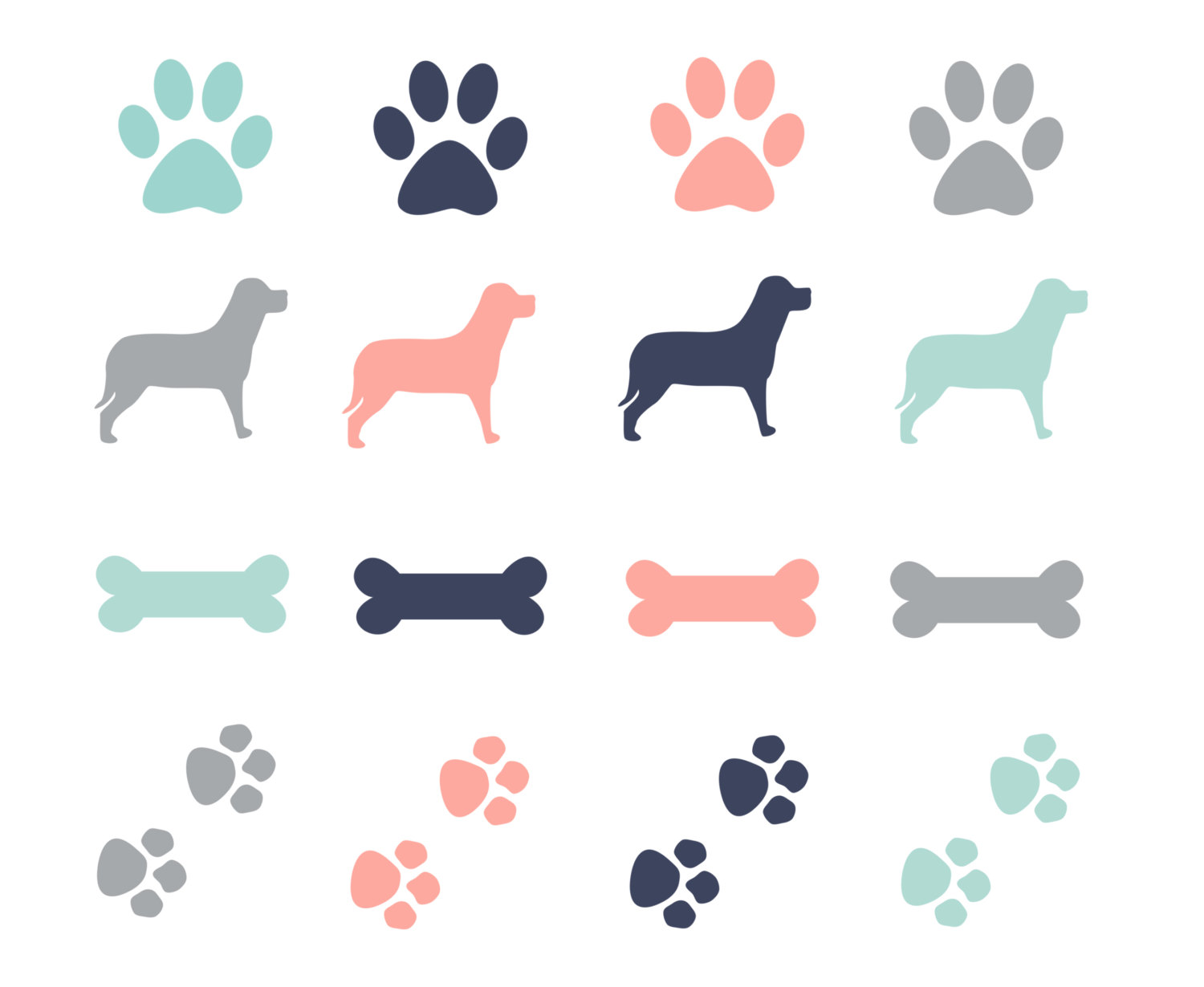 Clipart dog paw.