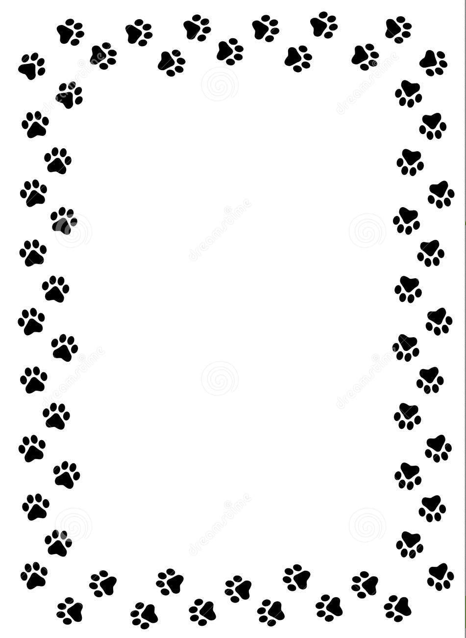 Dog And Cat Border Clipart.