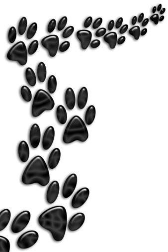Free dog paw print clip art.