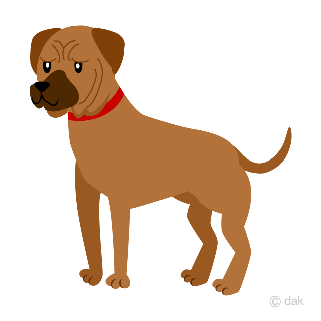 Free Tosa Dog Clipart Image|Illustoon.
