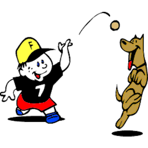 Dog Playing Fetch clipart, cliparts of Dog Playing Fetch.
