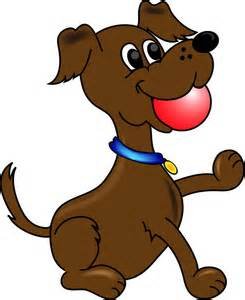 Dog Playing With Ball Clipart.