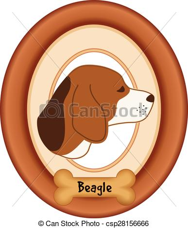 Dog portrait clipart.