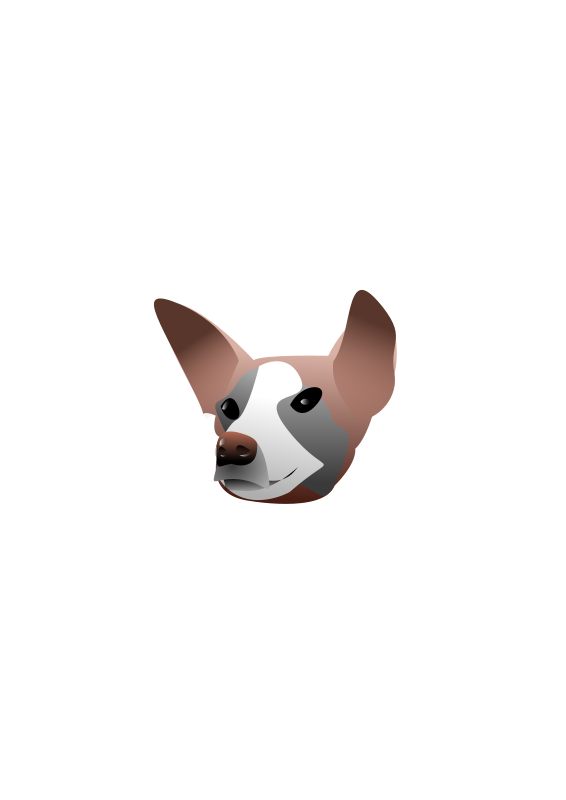 Free Clipart: Dog Portrait.