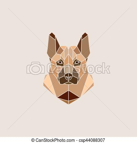 Vector Clipart of Shepherd dog portrait.