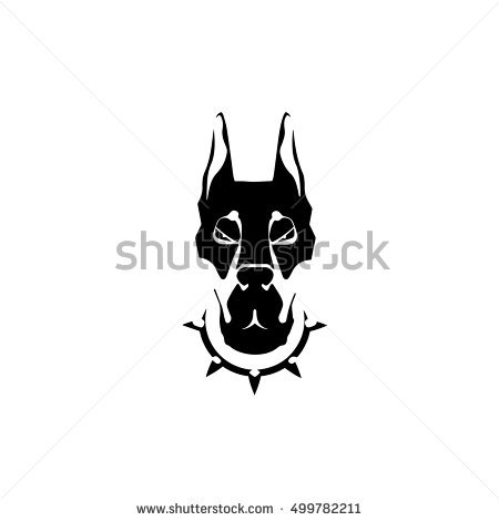 Dog Portrait Logo Icon Clip Art Stock Vector 499782253.