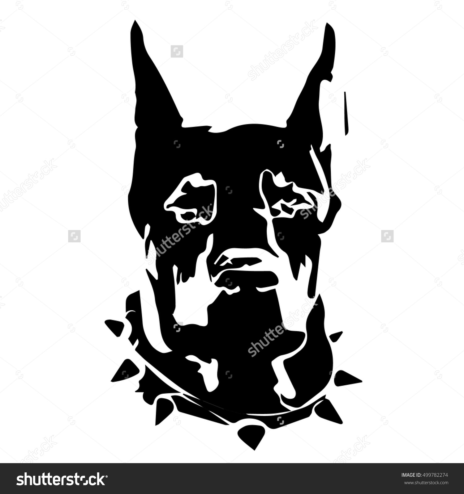 Dog Portrait Logo Icon Clip Art Stock Vector 499782274.