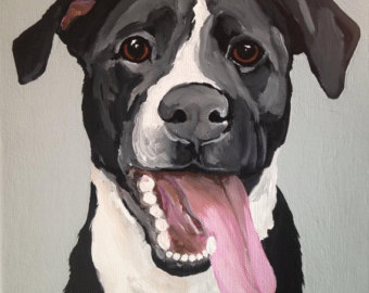 Paint dog portrait clipart.